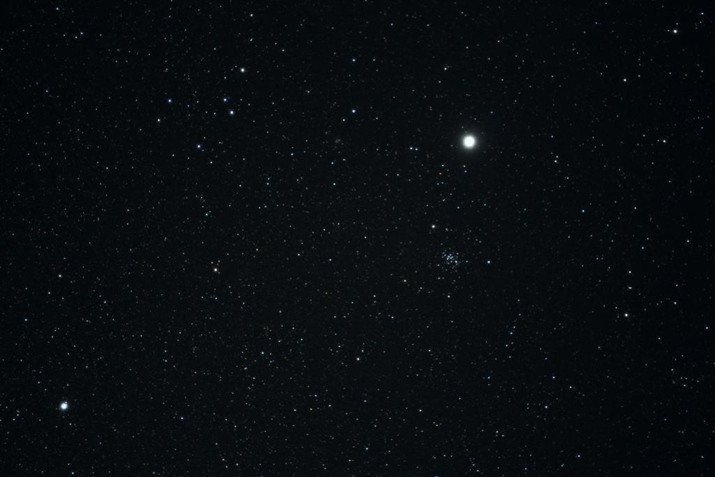 Jupiter and M44 March 2015 by Steve Coe